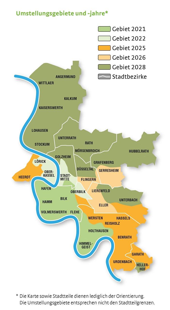Düsseldorf Stadtteile Karte.Netzgesellschaft Düsseldorf Startet Mit Arbeiten Zur